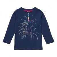 Barntröja Enhörning - Marinblå 2-3år