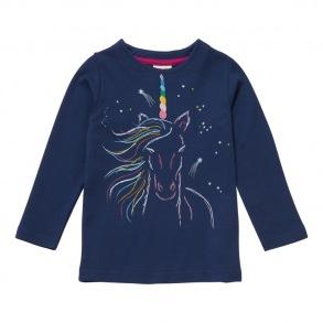 Barntröja Enhörning - Marinblå 2-3år - Tröja enhörning marinblå 2-3år