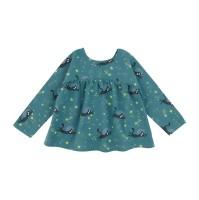 Tunika för baby/barn -  rymd-katt blå