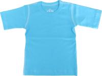 T-shirt kortärmad för barn - Turkose 70cl