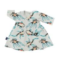 Klänning baby - Koi fiskar 6-18mån
