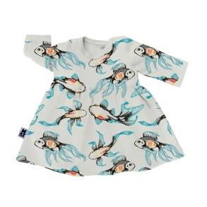Klänning baby - Koi fiskar 6-18mån - Babyklänning koi  6-12mån