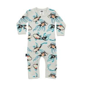 Babypyjamas/lekdräkt - Koi fiskar 6-12mån - Babypyjamas Koi 6-12mån