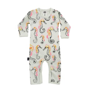 Babypyjamas/lekdräkt - Sjöhäst 3-6mån - Babypyjamas sjöhäst 3-6mån