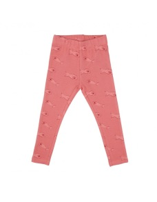 Leggings baby/barn - suger coral 12mån-5år - leggings rosa - 12mån (74cl)