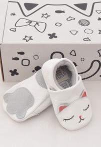 Baby mockasiner - katt 3-21mån - Mockasiner katt S (3-9mån) 9,5-10,5cm
