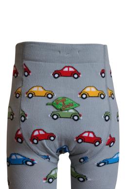 Ekologiska barnstrumpbyxor bilar