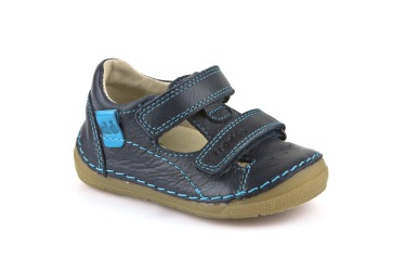 skor barn blå