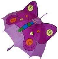 Barnparaply Lila - Fjäril