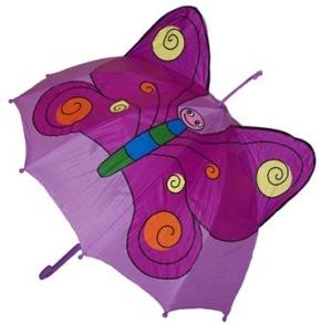 Barnparaply Lila - Fjäril - Barnparaply Fjäril