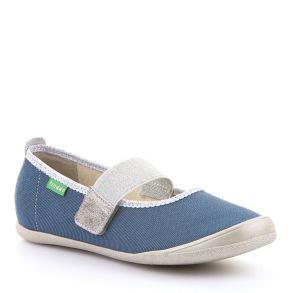 Innesko Jess - textilsko blå/silver - G1700225-2 (Stl. 27-28) - Stl. 27 - mått 17,0cm