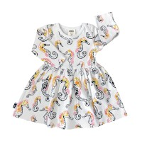 Babyklänning - Sjöhästar 3-18mån