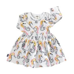 Babyklänning - Sjöhästar 3-18mån - Babyklänning sjöhäst  3-6mån