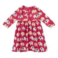 Barnklänning - Elefanter 3-4år