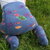 Barnstrumpbyxor med anti-slip - Drakar
