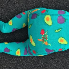 Barnstrumpbyxor med anti-slip - Grönsaker nyfödd-6år - Strumpbyxor grönsaker (56/68cl) 0-6 mån