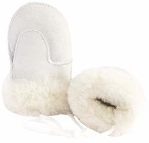 Vantar för barn i lammskinn - Vita 4-6år - Vantar vita 4-6år