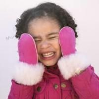 Vantar i lammskinn - Rosa 1-7år