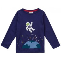 Barntröja i ekologisk bomull Astronaut - 2-9år
