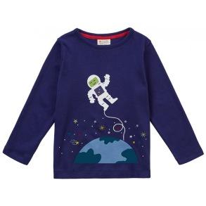 Barntröja i ekologisk bomull Astronaut - 6-9år - Barntröja astronaut - 6-7år 122cl