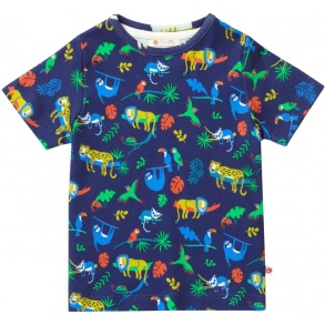 T-shirt för barn - Safaridjur 18mån-6år - Barn t-shirt safari 18-24mån 92cl