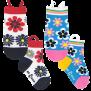Ezsox barnstrumpor - Blommiga 2-pack (23-34) - 2-pack barnstrumpor blommor 31-34