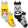 Ezsox barnstrumpor - Tiger/panda 2-pack (19-22 samt 31-34) - 2-pack barnstrumpor tiger/panda 30-34