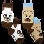 Ezsox barnstrumpor - hund & björn 2-pack (30-34) - 2-pack barnstrumpor hund/björn 31-34