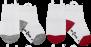 Ezsox barnstrumpor - Vit/röd/grå 2-pack (19-22 samt 31-34) - 2-pack barnstrumpor vit/röd/grå 31-34