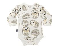 Babykläder omlottbody - Igelkott 0-18mån