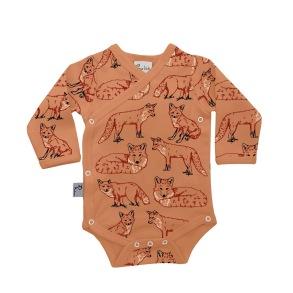 Babykläder omlottbody - Räv 0-18mån - Omlottbody räv 0-3mån