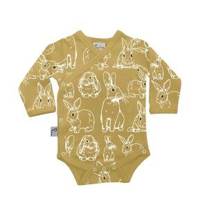 Babykläder omlottbody - Kaniner 3-6mån - Omlottbody kanin 3-6mån