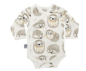 Babykläder omlottbody - Igelkott 0-18mån - Omlottbody igelkott 0-3mån