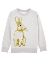 Sweatshirt barn - Cream med kanin - 5-6år
