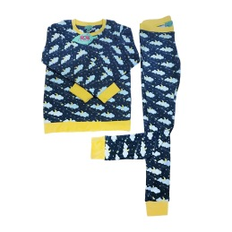 2-delad pyjamas för barn i ekologisk bomull
