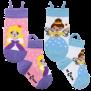 Ezsox barnstrumpor - Älva o Prinsessa 2-pack (31-34) - 2-pack barnstrumpor älva o prinsessa 31-34