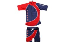 Zunblock UV-set Stars navy/red 86/92cl