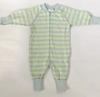 Pyjamas Baby Zipper - Randig ljusblå/ljusgrön 50-68cl