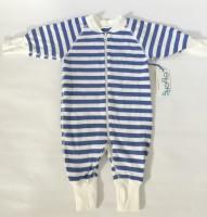 Pyjamas Baby Zipper - Randig Blå/Vit 50-68cl