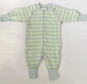 Pyjamas Baby Zipper - Randig ljusblå/ljusgrön 50-68cl - babypyjamas ljusblå/ljusgrön