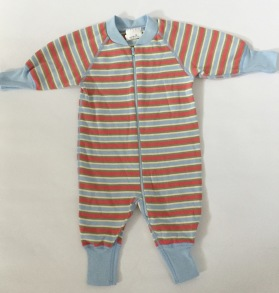 Pyjamas Bebis Zipper - Randig Multi 50-68cl - babypyjamas multi