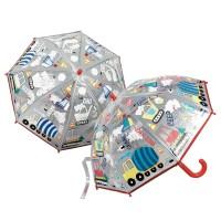 Barnparaply färgskiftande - Arbetsfordon