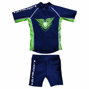 Zunblock UV-set Rock´n Navy/Neongreen 74/80cl - Zunblock Rock´n neongreen 74/80cl