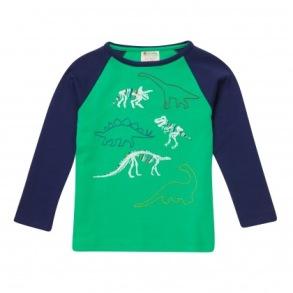 Barntröja med raglan ärm - Dinosaurier 2-6år - Barntröja dino sklett 2-3år 98cl