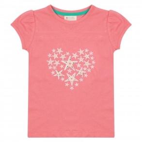Barn T-shirt kortärmad - Sjöstjärna 18mån-8år - Sjöstjärna tshirt 18-24mån 92cl