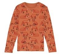 Barntröja ekologisk bomull - Rävar 2-8år