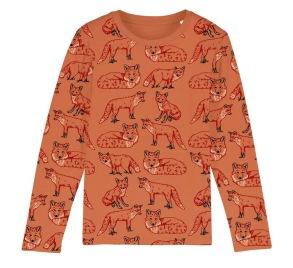 Barntröja ekologisk bomull - Rävar 2-8år - Barntröja rävar 2-3år