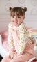 Hängselbyxor i ekologisk bomull - Ljusrosa 12mån-5år