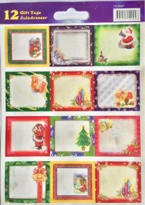 Julklappsetiketter Glitter 36-pack - Julklappsetiketter glitter 36-pack