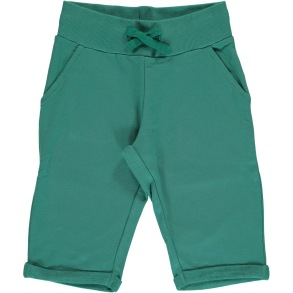Maxomorra SweatShorts - Green Petrol 86-116cl - Maxomorra green petrol 86/92cl